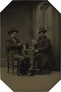 Photography:Tintypes, Tintype of Two Western Gamblers,...