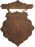 Western Expansion:Cowboy, Arizona Cowboy and Indian Carnival Medal, 1899....