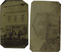 Photography:Cabinet Photos, Two Rare Tintypes of Marquardt & Knutzen Dry Goods. ...