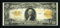 Large Size:Gold Certificates, Fr. 1187 $20 1922 Gold Certificate Extremely Fine-AboutUncirculated....