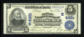 National Bank Notes:Pennsylvania, Pittsburgh, PA - $5 1902 Plain Back Fr. 598 The Mellon NB Ch. #(E)6301. ...