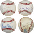 Autographs:Baseballs, Baltimore Orioles Stars Single Signed Baseballs Lot of 4. Four ofthe foremost stars in the history of the Baltimore Oriole...