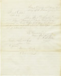 """Autographs:Military Figures, Manuscript Document, """"General Order No 46"""" Signed, """"Theodore Read"""",..."""