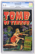Golden Age (1938-1955):Horror, Tomb of Terror #3 File Copy (Harvey, 1952) CGC VF 8.0 Cream tooff-white pages....