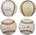 Autographs:Baseballs, American League Batting Champions Single Signed Baseballs Lot of 4.Each of this celebrated quartet of superior sluggers h...