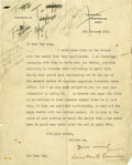 "Autographs:Non-American, Winston S. Churchill Typed Letter Signed. One page, 8"" x 10"",January 8, 1930, Westerham, Kent, United Kingdom, on Chartwell..."