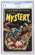 Golden Age (1938-1955):Horror, Mister Mystery #7 (Aragon Magazines, Inc., 1952) CGC VG 4.0 Creamto off-white pages....
