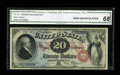 Large Size:Legal Tender Notes, Fr. 129 $20 1878 Legal Tender CGA Gem Uncirculated 68....