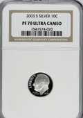 Proof Roosevelt Dimes: , 2003-S 10C Silver PR70 Ultra Cameo NGC. PCGS Population (169/0).Numismedia Wsl. Price for NGC/PCGS coi...
