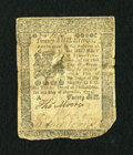 Colonial Notes:Pennsylvania, Pennsylvania December 8, 1775 20s Fine....