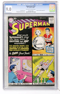 Superman #132 (DC, 1959) CGC VF/NM 9.0 Off-white to white pages
