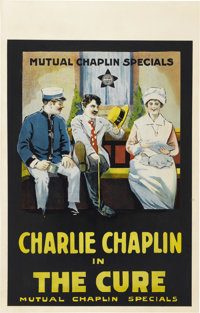 """The Cure (Mutual Productions, 1917). Window Card (14"""" X 22"""")"""