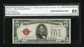Small Size:Legal Tender Notes, Fr. 1528 $5 1928C Legal Tender Note. CGA Gem Uncirculated 65.. ...