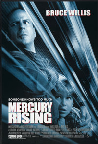 "Mercury Rising (Universal, 1998). One Sheet (27"" X 40"") DS Advance. Action"