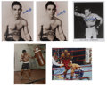 "Boxing Collectibles:Autographs, Boxing Legends Signed Photographs Lot of 5. Great collection ofsigned 8x10"" prints featuring some of the more prominent na..."