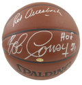 Basketball Collectibles:Balls, Red Auerbach and Bob Cousy Dual-Signed Basketball. Boston Celtics legendary coach and front office man Red Auerbach appears...