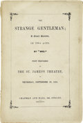 Books:First Editions, [Charles Dickens]. The Strange Gentleman; A Comic Burletta, inTwo Acts....