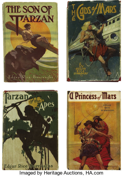 Edgar Rice Burroughs Vast Single Owner Collection Of Rare Lot