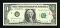 Error Notes:Ink Smears, Fr. 1904-B $1 1969A Federal Reserve Note. Choice CrispUncirculated.. ...