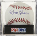 Autographs:Baseballs, Moose Skowron Single Signed Baseball, PSA Mint+ 9.5. The powerfulslugger Moose Skowron places a equally strong exemplar of ...