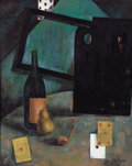 Fine Art - Painting, Russian:Modern (1900-1949), IVAN (JEAN POUGNY) PUNI (Russian, 1892-1956). Still Life withCards. Oil on board. 29-1/2 x 23-1/2 inches (74.9 x 59.7 c...