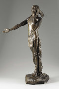 Fine Art - Sculpture, American:Modern (1900 - 1949), CHARLES H. HUMPHRISS (American 1867-1934). Appeal to the GreatSpirit, 1906. Bronze with brown patina. 31 x 15-1/4 x 19-...