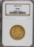 Liberty Eagles: , 1845-O $10 XF45 NGC. Breen-6869. The 84 in the date is repunched,and the top of the second vertical shield stripe has a sm...
