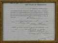 Military & Patriotic:Civil War, Confederate Surgeon Samuel Houston Caldwell's Oath of Allegiance to the United States at the Close of the War. Caldwell ser...