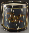 Military & Patriotic:Civil War, A 19th Century Painted Maple Drum This maple drum dates to the mid to late 19th century and has a beautiful painted eagle on...
