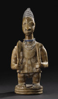 African: , Yoruba (Nigeria), the Oyo area, and probably the Erin region, from the atelier of Maku or his son, Toibo. Fine Male Figure. ...