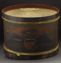 "Military & Patriotic:Civil War, Civil War-Era Folk Art Painted Drum, Belonging to ""Isaac Golden""..."