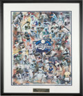 "Baseball Collectibles:Others, Massive World Series MVPs Multi-Signed Lithograph. In what is atruly overwhelming display, the huge (29x35"" with frame) li..."