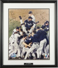 Autographs:Photos, 1998 New York Yankees World Champion Team Signed Photograph.Setting an American League record for wins in a season when th...