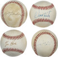 Autographs:Baseballs, Modern Stars Single Signed Baseballs Lot of 4. Each of the providedOfficial American baseballs seen here has been signed b...