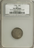 Early Dimes, 1796 10C --Damaged, Improperly Cleaned--NCS. VG Details....
