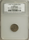 Early Half Dimes, 1797 H10C 15 Stars--Obverse Graffiti, Improperly Cleaned--NCS. VFDetails....