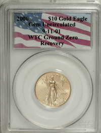 2000 G$10 Quarter-Ounce Gold Eagle Gem Uncirculated PCGS. 9-11-01 WTC Ground Zero Recovery....(PCGS# 9951)