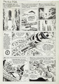 Original Comic Art:Panel Pages, Jack Kirby and George Roussos (as George Bell) FantasticFour #21 Hate-Monger page 14 Original Art (Marvel, 1963)....