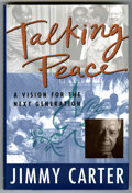 Books:Signed Editions, Jimmy Carter Talking Peace Signed by Jimmy Carter (Dutton,1993)....
