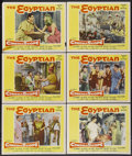 "Movie Posters:Historical Drama, The Egyptian (20th Century Fox, 1954). Lobby Cards (6) (11"" X 14"").Historical Drama.... (Total: 6 Items)"