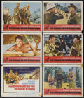 "Movie Posters:Academy Award Winner, The Bridge On The River Kwai (Columbia, R-1963). Title Lobby Cardand Lobby Cards (5) (11"" X 14""). Academy Award Winner.... (Total: 6Items)"
