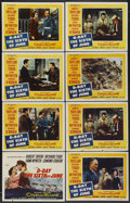 "Movie Posters:War, D-Day The Sixth of June (20th Century Fox, 1956). Title Lobby Cardand Lobby Cards (7) (11"" X 14""). War.... (Total: 8 Items)"
