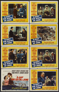 """D-Day The Sixth of June (20th Century Fox, 1956). Title Lobby Card and Lobby Cards (7) (11"""" X 14""""). War.... (T..."""