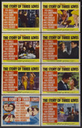 """Movie Posters:Romance, The Story of Three Loves (MGM, 1953). Lobby Card Set of 8 (11"""" X 14""""). Romance.... (Total: 8 Items)"""