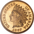 Proof Indian Cents, 1867 1C PR66 Red NGC....