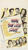 "Movie Posters:Musical, Thank Your Lucky Stars (Warner Brothers, 1943). Midget Window Card(8"" X 14"")...."