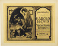 """Movie Posters:Comedy, From Hand to Mouth (Pathé, 1919). Title Lobby Card (11"""" X 14"""")...."""