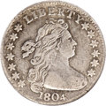Early Dimes, 1804 10C 13 Stars on Reverse--Environmental Damage--NCS. VFDetails....