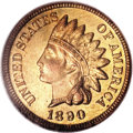 Proof Indian Cents, 1890 1C PR66 Red NGC....