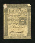 Colonial Notes:Pennsylvania, Pennsylvania March 20, 1773 16s Very Fine-Extremely Fine....